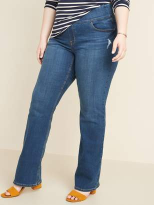 Old Navy High-Waisted Plus-Size Pull-On Boot-Cut Jeans