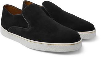 John Lobb Haven Suede Slip-On Sneakers - Men - Black