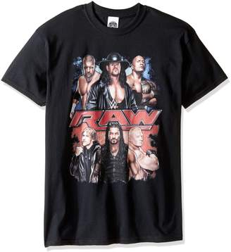 WWE Men's Big and Tall Raw Group T-Shirt