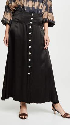 Raquel Allegra Button Front Skirt