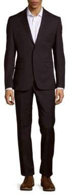 Versace Solid Woolen Jacket & Pants Set