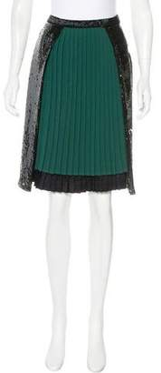 Marc Jacobs Embellished Knee-Length Skirt