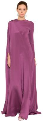 Valentino Draped Silk Long Dress