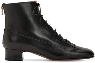 L'Autre Chose 35mm Lace-Up Leather Ankle Boots