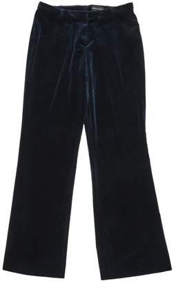 Rena Lange Navy Velvet Trousers for Women