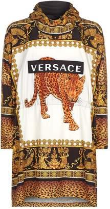 Versace Leopard Baroque Rain Jacket