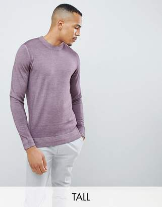 Ted Baker Tall crew neck sweater in pink