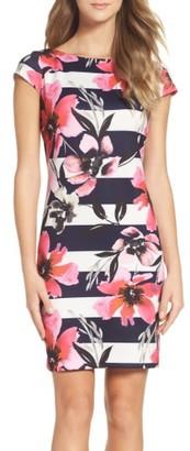 Women's Vince Camuto Scuba Shift Dress $128 thestylecure.com