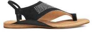 Aerosoles Handbook Suede Toe Ring Slingback Sandals