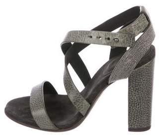 Brunello Cucinelli Monili-Trimmed Sandals