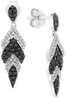 Wrapped in Love Diamond Feather Drop Earrings (1 ct. t.w.) in 14k White Gold