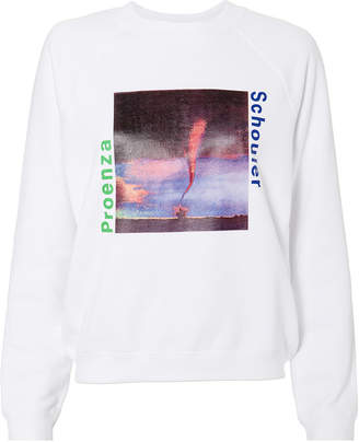 Proenza Schouler Pswl Shrunken Graphic Print Sweatshirt