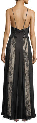 Haute Hippie Soul of the World Sleeveless Lace-Up Gown