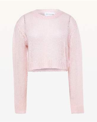 Juicy Couture Metallic Mohair Crop Pullover