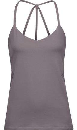 Hillary Mesh-Trimmed Printed Stretch-Jersey Tank