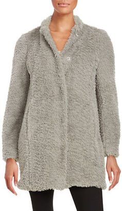 Kenneth Cole New York Faux Fur Button-Front Coat $200 thestylecure.com