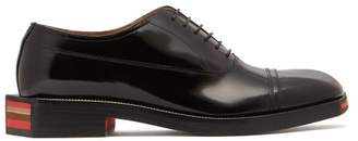 Maison Margiela Angular Sole Leather Oxford Shoes - Mens - Black