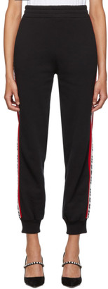MSGM Black Logo Tape Lounge Pants