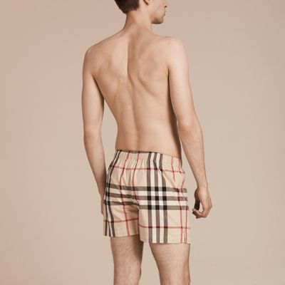 Burberry Check Twill Cotton Boxer Shorts 7