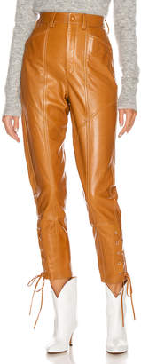 Isabel Marant Cadix Leather Pant in Natural | FWRD