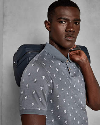 Ted Baker STOPME Palm jacquard cotton polo shirt