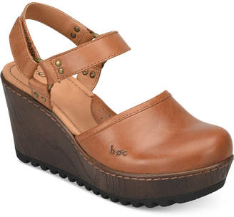b.ø.c. Rina Wooden Platform Wedges Women's Shoes