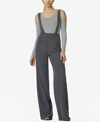 Avec Les Filles Wide-Leg Suspender Pants $78 thestylecure.com