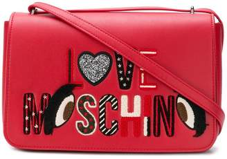 Love Moschino (ラブ モスキーノ) - Love Moschino embroidered logo shoulder bag