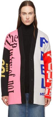 MSGM Multicolor Knit Logo Cardigan