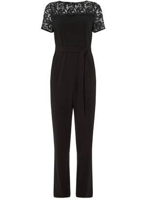 3a3dcf869a6c Dorothy Perkins Womens   Black Lace Mix Jumpsuit