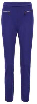 BOSS Hugo Extra-slim-fit cropped pants in stretch twill 0 Open Purple