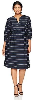 Junarose Women's Plus Size Fryd Long Sleeve Below Knee Dress