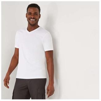 Joe Fresh Men's V-Neck Tee, White (Size XL)