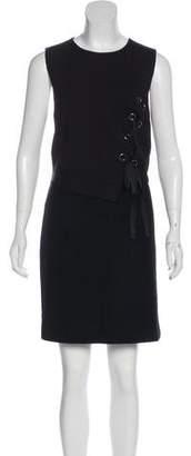 Tibi Sleeveless Lace-Up Dress