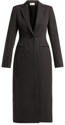 The Row Virgin Wool Blend Coat - Womens - Dark Grey