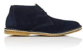 Barneys New York MEN'S SUEDE CHUKKA BOOTS - NAVY SIZE 8 M