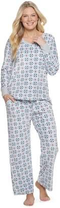 Croft & Barrow Women's Velour 2-Piece Pajama Set