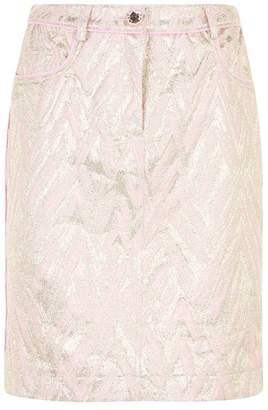 Moschino Shimmer Pencil Skirt