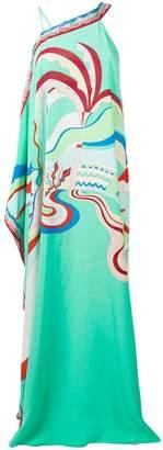 Emilio Pucci La Villa print one shoulder dress