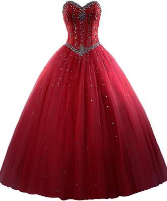 Erosebridal Gold Embroidery Ball Gown Quinceanera Dresses Sweet 15 Dresses US