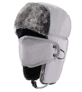 JOVIVI Unisex Winter Trooper Hat Hunting Hat Ushanka Ear Flap Chin Strap and Windproof Mask (Gray)