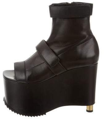 Vera Wang Leather Platform Ankle Boots w/ Tags