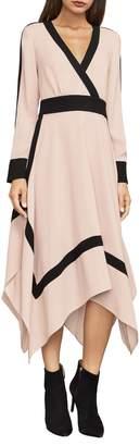 BCBGMAXAZRIA Bambi Colourblocked Wrap Dress