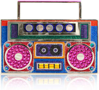 Judith Leiber Couture Boom Box Brooklyn Crystal Clutch Bag