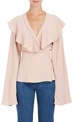 Co Women's Crepe Ruffle Wrap Blouse $725 thestylecure.com
