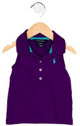 Ralph Lauren Girls' Sleeveless Polo Top