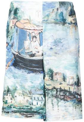 Off-White Impressionist print shorts