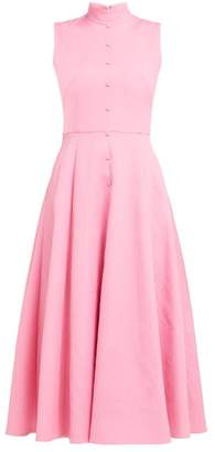 Emilia Wickstead Sheila Panelled Cloque Midi Dress - Womens - Pink