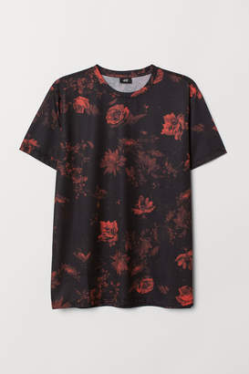 H&M Patterned T-shirt - Black