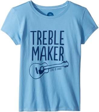 Life is Good Treble Maker Crusher T-Shirt Girl's T Shirt